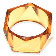 Load image into Gallery viewer, Faceted Lucite Bangle