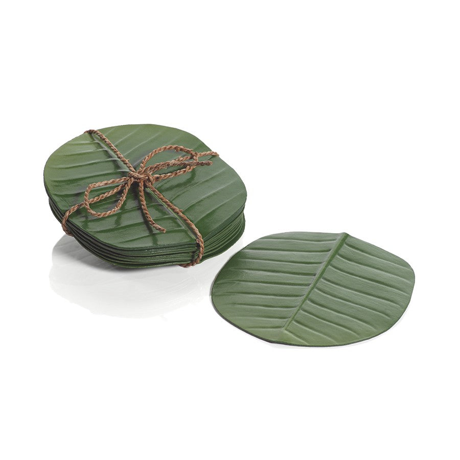 Banana Leaf Coasters Set/12