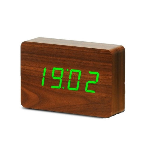 Brick Click Clock Walnut