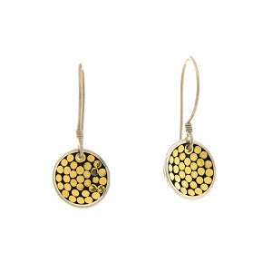 Mini Gold Disk Earrings