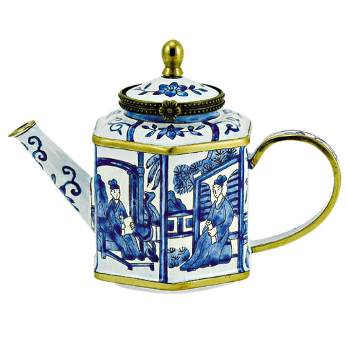 Mini Blue and White Teapot