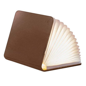 Mini Book Light Brown Leather