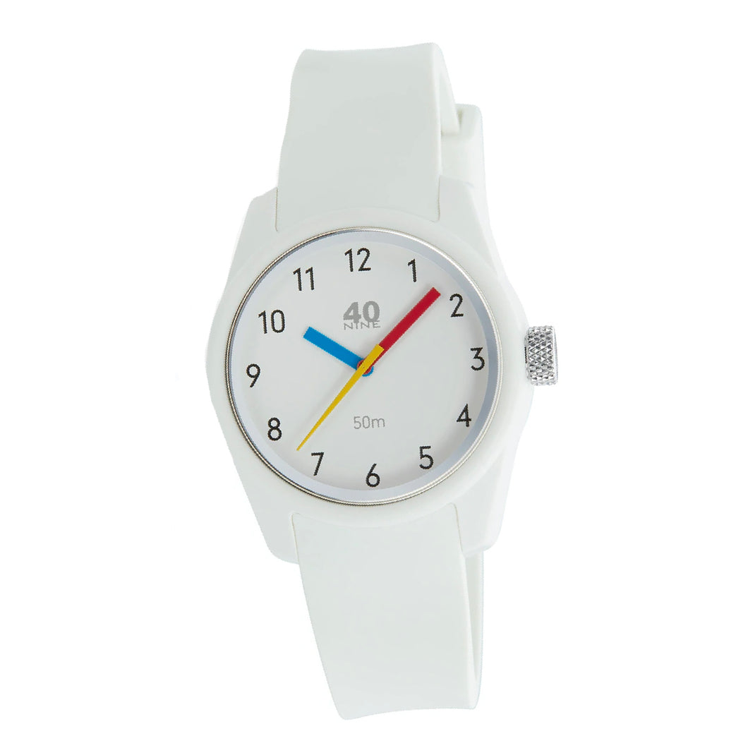 Ladies 40Nine Primary Watch White