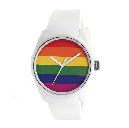 Mens 40Nine Pride Watch White