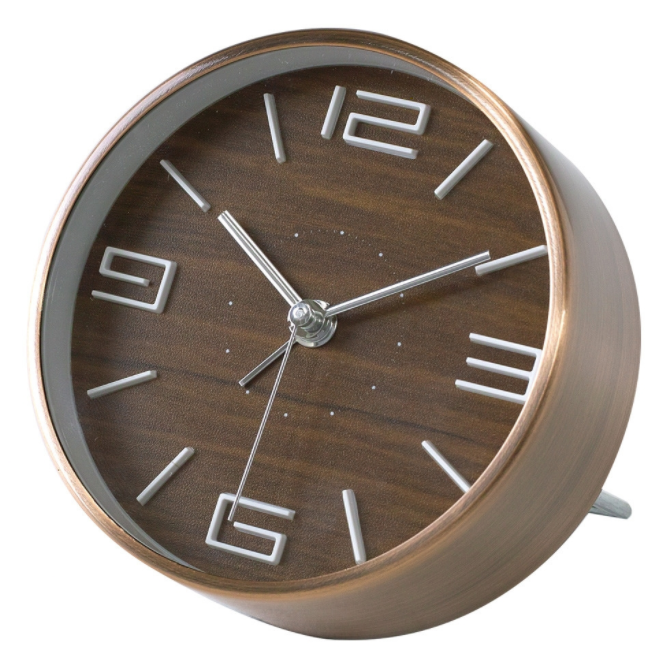 Edge Bedside Alarm Clock Simple Brown