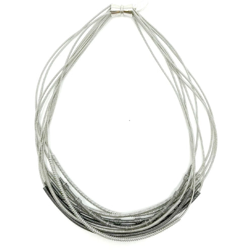 Wire Necklace with Sliding Sleeves