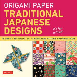 Traditional Japanese Designs Origami Paper