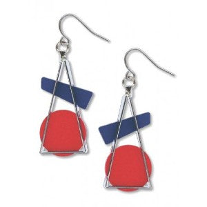 Kandinsky Triangle at Rest Earring