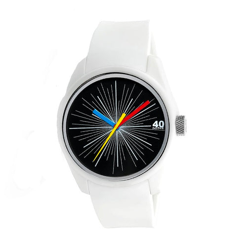 Mens 40Nine Splash Watch White