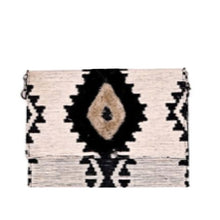 Load image into Gallery viewer, Embroidered Durry Flap Clutch