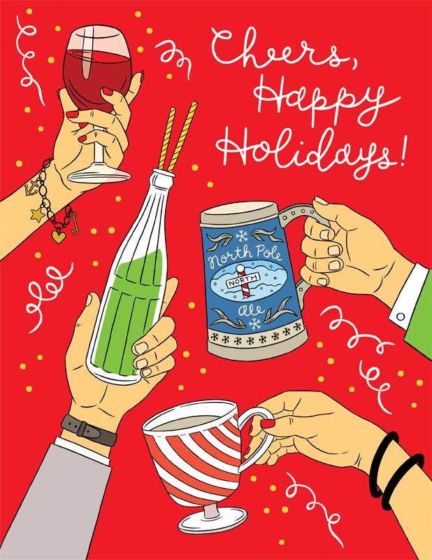 Cheers Happy Holidays Card