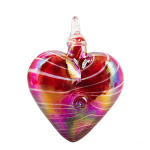 Red Cupid Heart Ornament