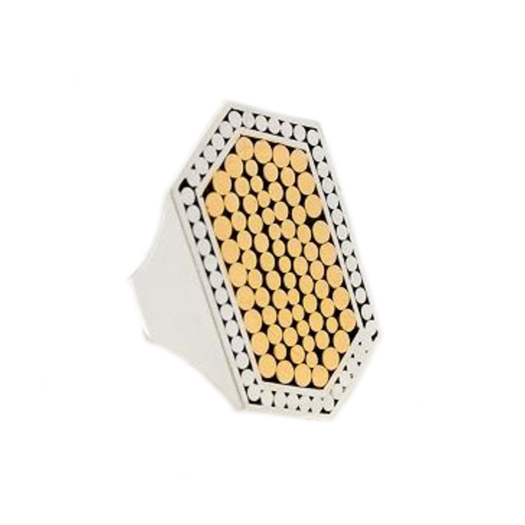 Two Tone Tag Ring