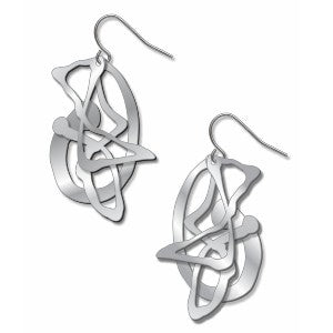 Pollock's Ghost Silver Earrings