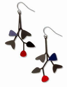 Mobiles-Red Accent Earrings