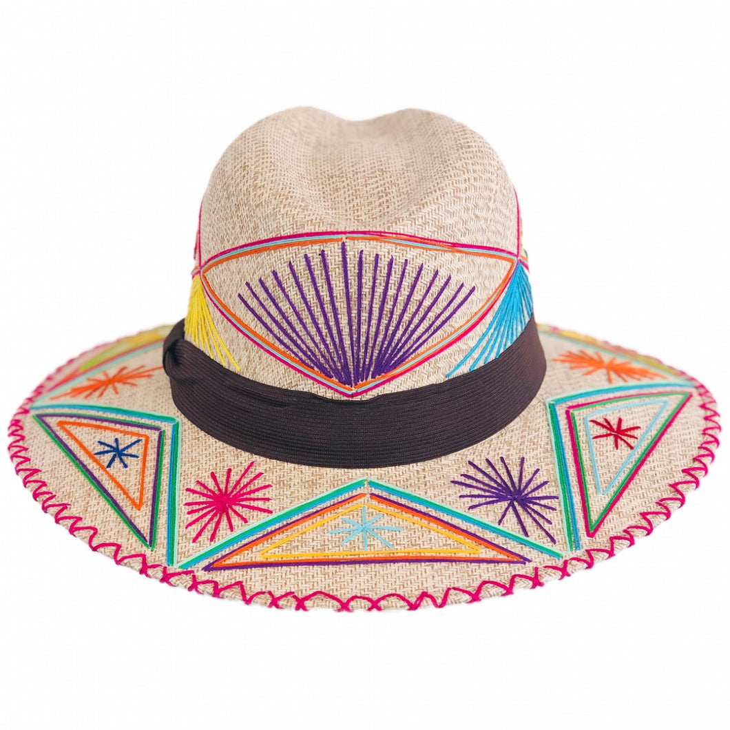 Mazahua Hat Rainbow Colors