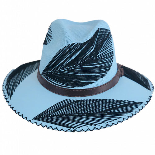 Mazahua Hat Black Feathers
