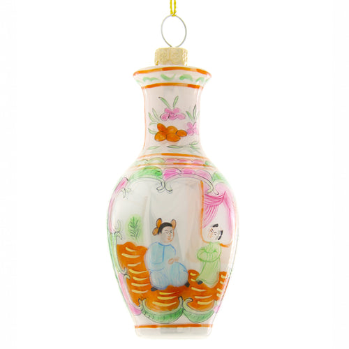 Hand Painted Chinese Urn Ornament