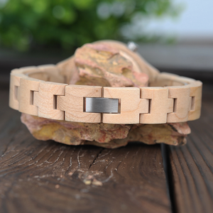 BOBO BIRD Slim Wooden Ladies Watch