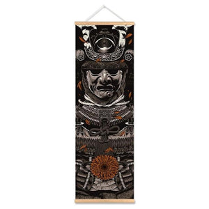 Samurai Vintage Scroll Canvas