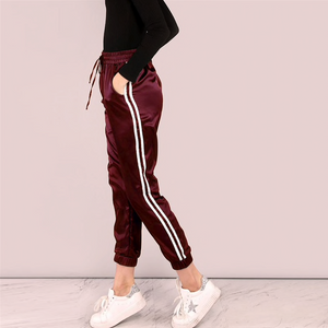 Striped Satin Joggers