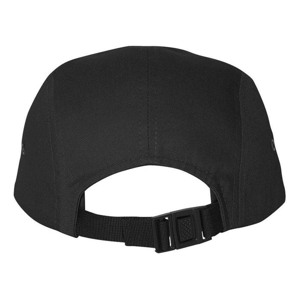 Back View of Black YZER Classic Five Panel Hat
