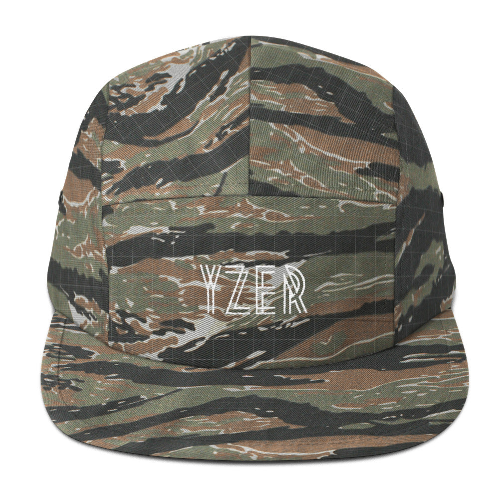 Green Tiger Camo YZER Classic Five Panel Hat