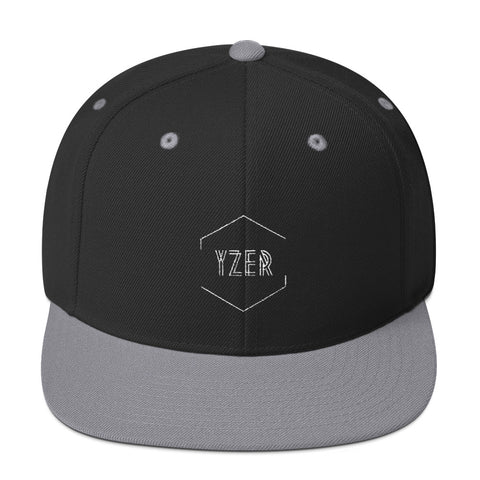 Black and Silver Classic YZER Snapback