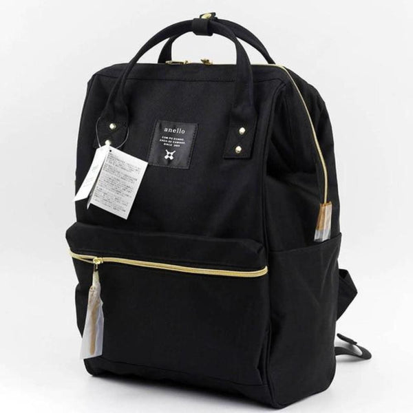 A Ring Tote Backpack - Black / Large Size - Backpack