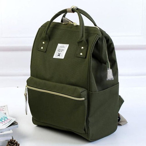 A Ring Tote Backpack - Military Green / Large Size - Backpack