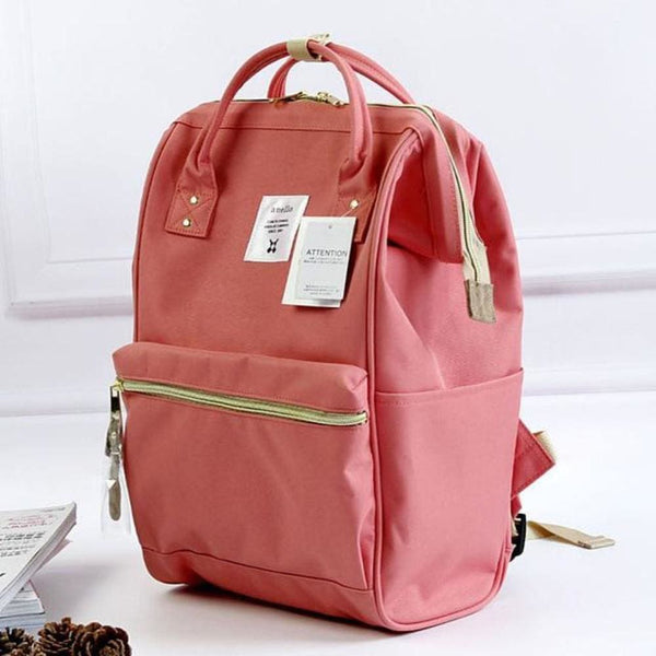 A Ring Tote Backpack - Pink / Large Size - Backpack