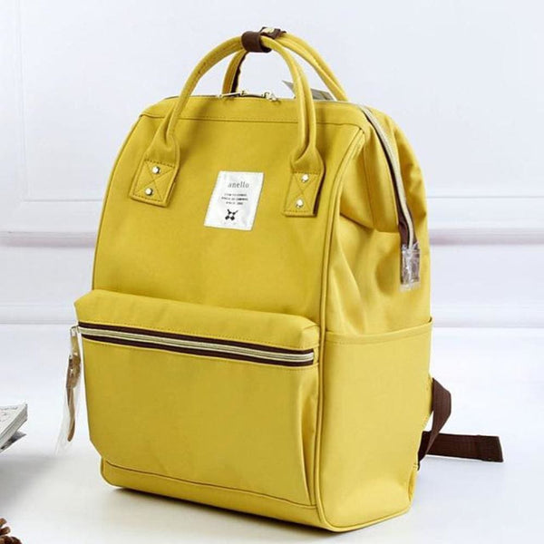 A Ring Tote Backpack - Yellow / Large Size - Backpack