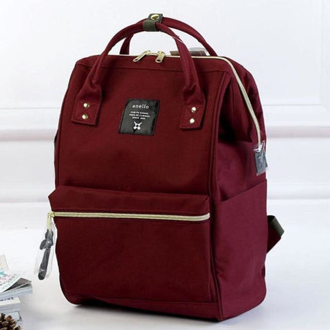 A Ring Tote Backpack - Burgundy / Large Size - Backpack