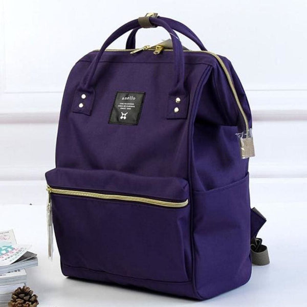 A Ring Tote Backpack - Plum / Large Size - Backpack