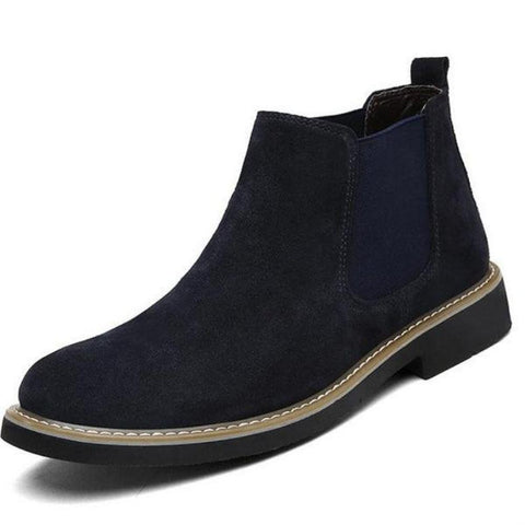Deep Blue Chelsea Slip On Boots