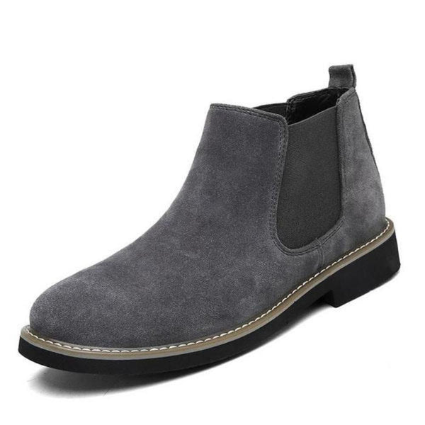 Grey Chelsea Slip On Boots