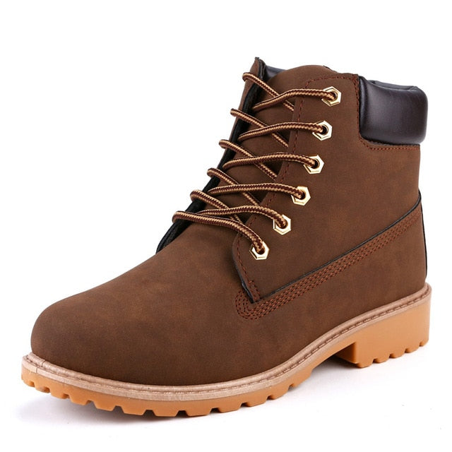 Brown ROXDIA High-Top Ankle Boots