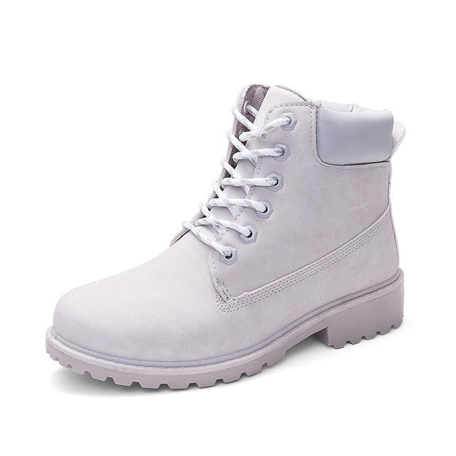 Grey ROXDIA High-Top Ankle Boots