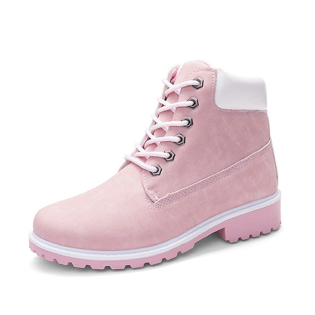 Pink ROXDIA High-Top Ankle Boots