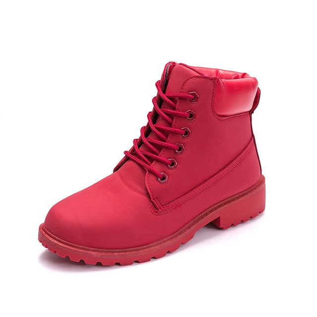 Red ROXDIA High-Top Ankle Boots