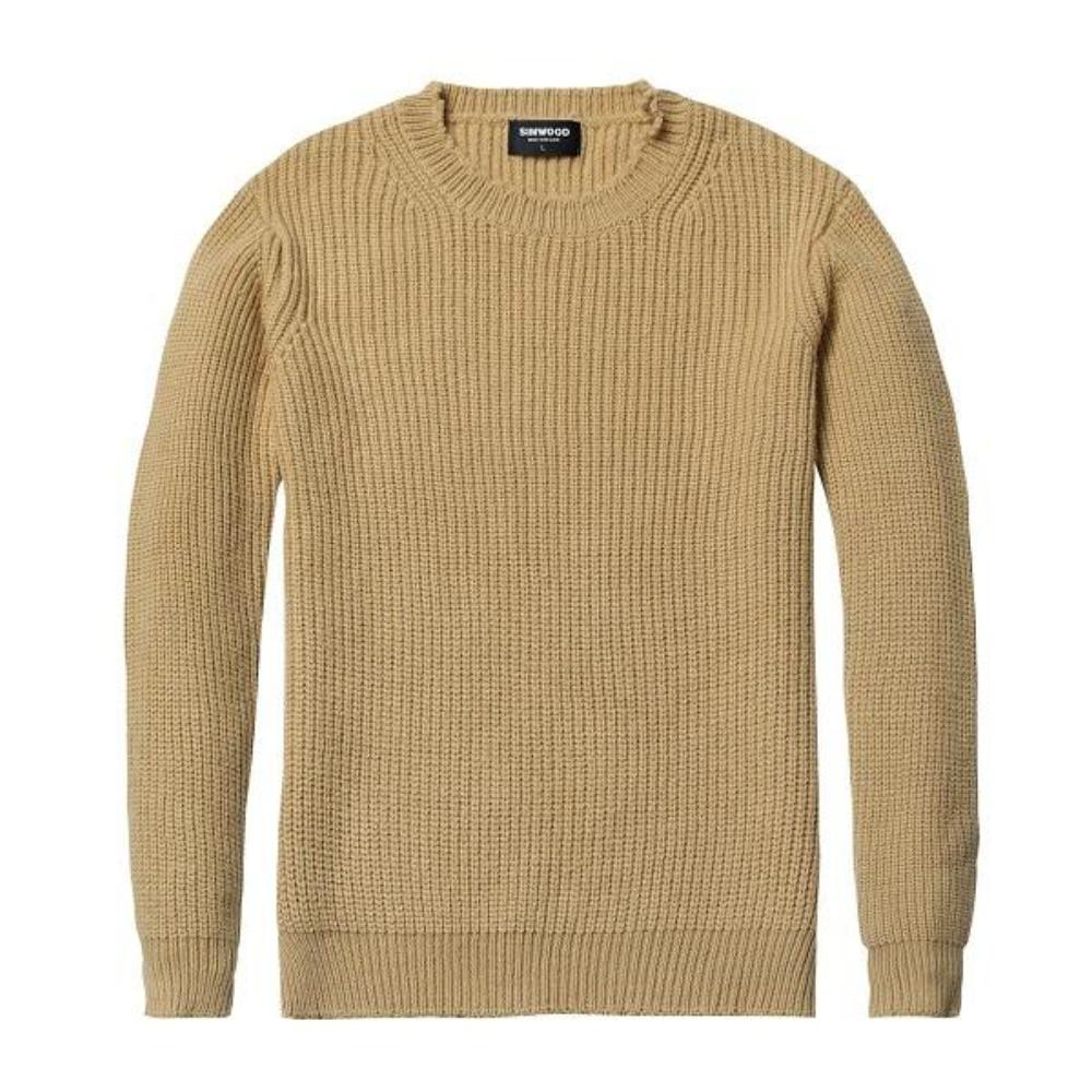 Yellow Casual Knitted Pullover