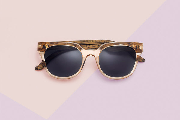 TAKE A SHOT Marlene Cat Eye Holz Sonnenbrille