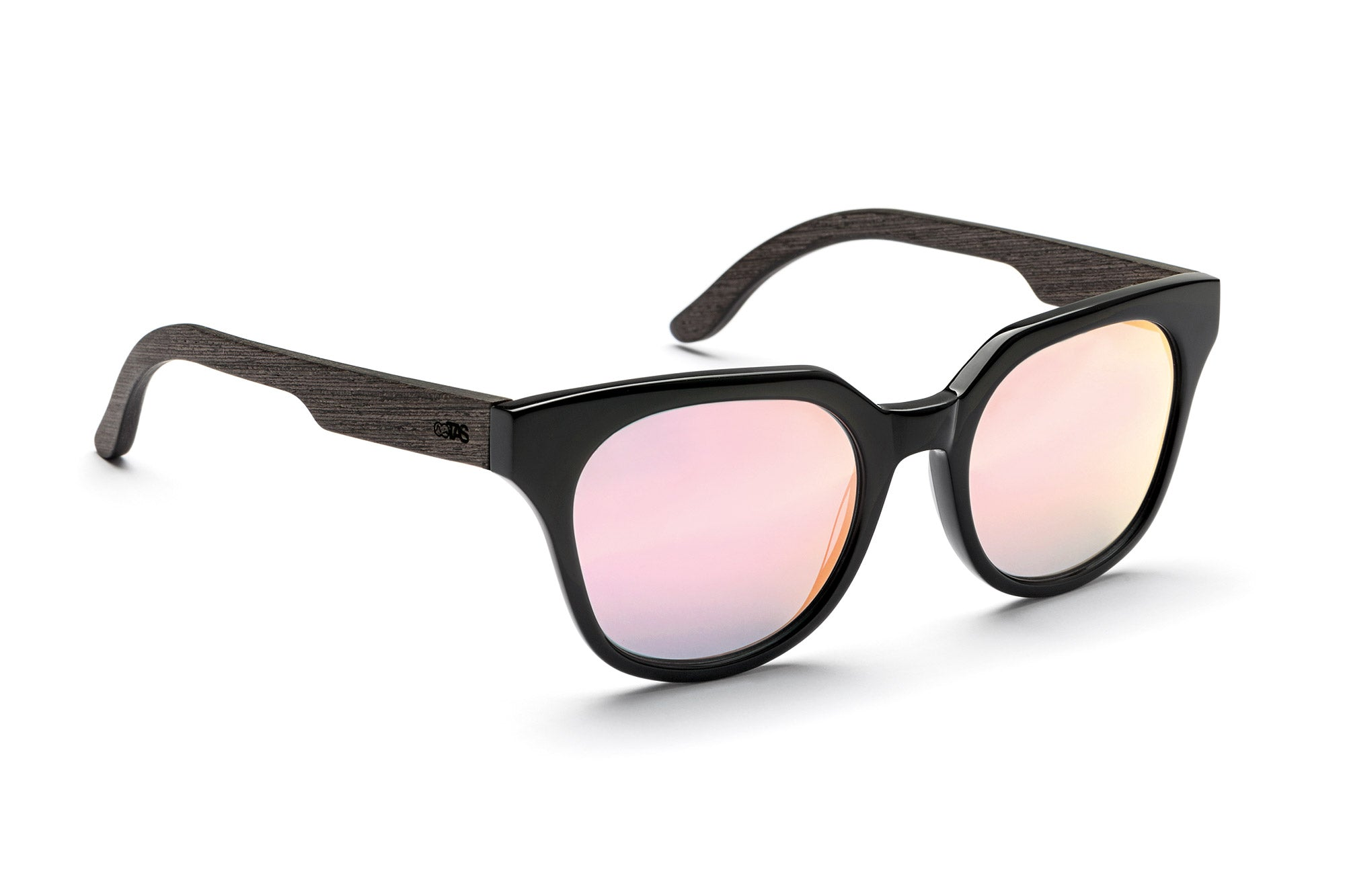 Jackie Cateye Sonnenbrille Holz rose Verspiegelung TAKE A SHOT