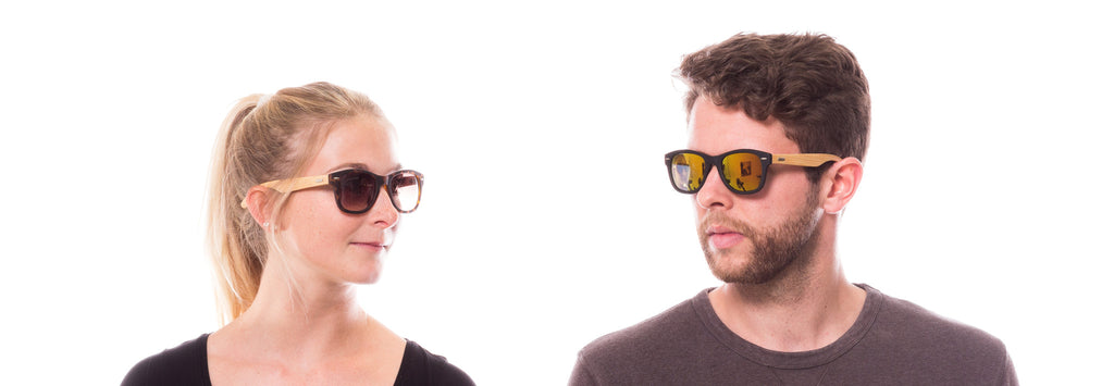 Godfather Death: Bambus, Holz-Sonnenbrille von Take A Shot, Lookbook