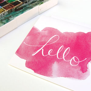 Watercolor Hello