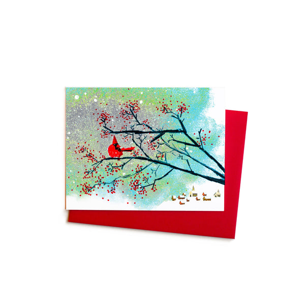 Cardinal and Wild Berries