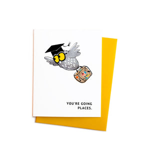You're Going Places Graduation Owl