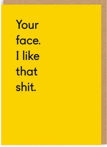 Your Face greeting card TP GC007