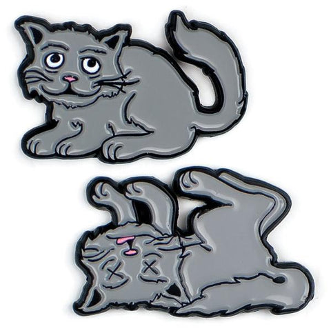 Schrodinger's Cat Pins
