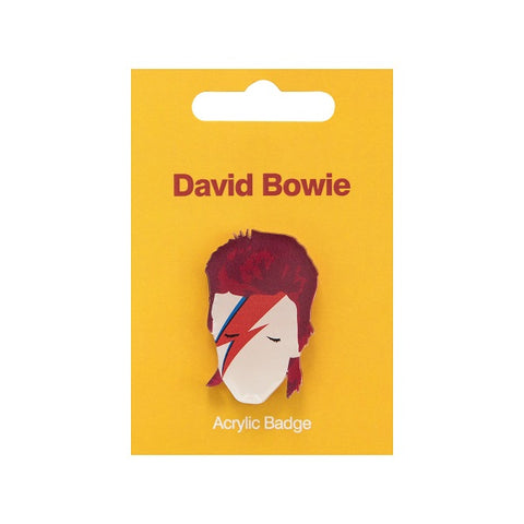 David Bowie Acrylic Badge